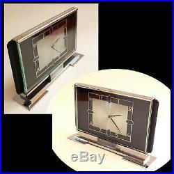 Kienzle Tischuhr Art Deco mechanisch mantle clock 8Tage Werk 8 days 6 Rubis
