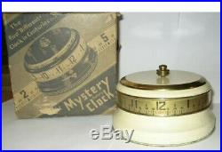 LUX Mystery Rotary Tape Measure Clock Annular Art Deco Novelty in Original Box