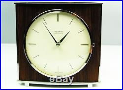 Later Art Deco Bauhaus Metal Chiming Desk Clock From Junghans Electrogong