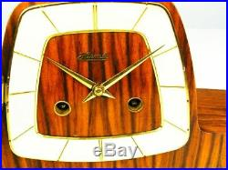 Later Art Deco Design Chiming Mantel Clock From Hermle 50 ´s