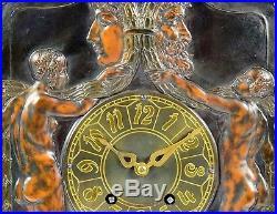 Lenzkirch Tischuhr Jugendstil Art Deco Uhr Pendule Vintage Table Clock Antique