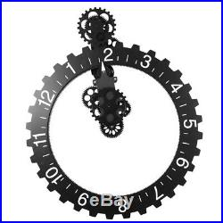 Mechanical Gear Wall Clock Home Decor Rustic Contemporary Industrial Chic