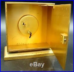 Most Beautiful ART DECO LUXOR 8 Day Square Desk Table Clock Enamel Birds Dial
