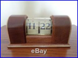 New Haven Clock Co'Stylis' Flip-Clock Art Deco in pristine condition