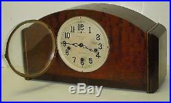 New Haven U. S. A Westminster Chime 8 Day Art Deco Tambour Clock Orleans Working