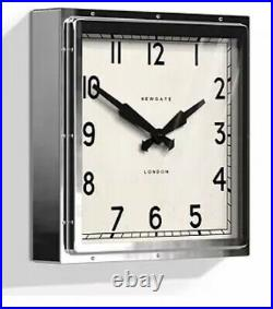 Newgate Large Chrome Quad' Wall Clock
