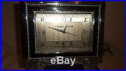 Outstanding Manning Bowman Art Deco Skyscraper Chrome Bakelite Clock Original