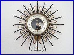 PLATO Star Wall Clock Vintage Dutch Art Deco Design Retro (Junghans Kienzle era)