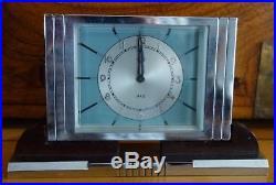 Pendulette JAZ AMPLIC / Art Déco Bakélite et chrome années 30 / Clock Pendule