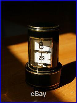 Plato Flip Clock Numeral Carriage Clock Ansonia Art Deco Artdeco Bauhaus