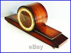 Pure Art Deco Westminster Chiming Mantel Clock Urgos Germany