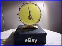 RARE Jaeger- LeCoultre Skeleton Art Deco Mantal, Table Clock Vintage