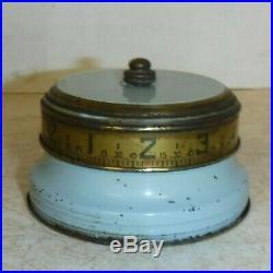 RARE MINI LUX Mystery Rotary Ribbon Tape Measure Clock Annular Art Deco Novelty