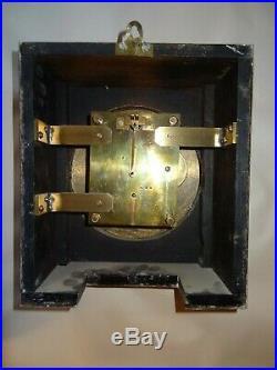 Raf Elliott Fusee Officer's Mess Mantle Shelf Clock England 1938 Working R. A. F