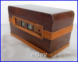 Rare 1936 Telechron flip clock Mod 8B09 TRIBUTE, Dorwin Teague Art Deco desiign