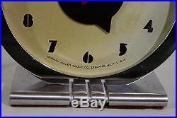 Rare Antique Circa 1930s Art Deco, Gilbert Rohde by Herman Miller Alarm Clock, NR