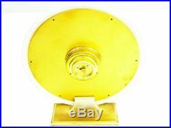 Rare Art Deco Bauhaus Brass Desk Clock Kienzle Design Heinrich Moeller Germany