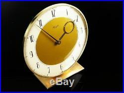 Rare Art Deco Bauhaus Brass Desk Clock Kienzle Dsign By Heinrich Moeller