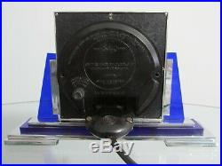 Rare Art Deco Modernist Chrome Smiths Electric Mantel Clock 1930s Working