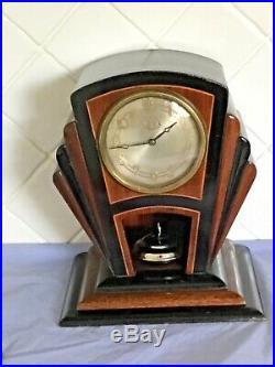Rare Art Deco Nmc Electric Ufo Disc Torsion Clock Not Tiffany Never Wind