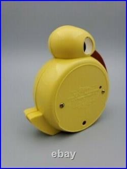 Rare Art Deco Telechron Quacker Clock, Yellow Bakelite, Belle Kogan Design