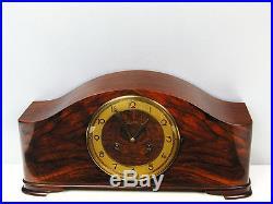 Rare Beautiful Art Deco Junghans Chiming Mantel Clock With Pendulum