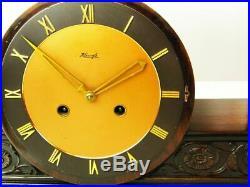 Rare Beautiful Art Deco Kienzle Chiming Mantel Clock With Pendulum