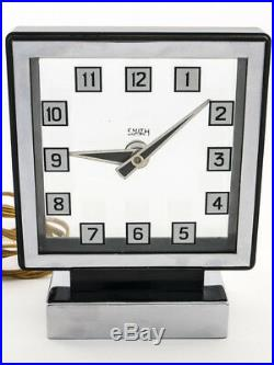 Rare Jaeger-LeCoultre Smith MYSTERY electromechanic table clock, art deco, 1930´s
