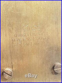 Rare Kundo Bulle Electro Magnetic Clock In Art Deco Case G W O