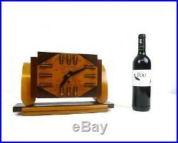 Rare Original Avantgarde Art Deco Amsterdam School Table Clock 1930
