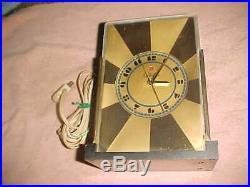 Rare Paul Frankl Telechron M-1 Clock Art Deco Classic