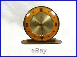 Rare Smiths Clock Art Deco Bauhaus Style Wind-Up Movement Minimalist Modernist