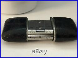 Rare TIFFANY & CO Moon Face Ermeto Purse & Travel Watch By Movado Leather Case