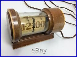 Rare Vintage New Haven Flip Number Clock Art Deco Works