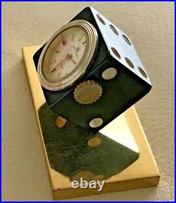 Rare Vintage Swiss Bucherer Jewels Movement Wind Up Dice Clock / Watch