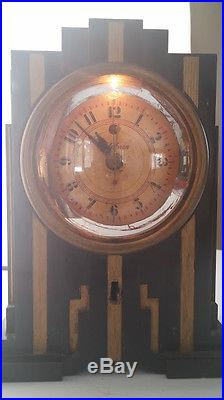 Rare Warren Telechron Bakelite Skyscraper Art Deco Electric Alarm Clock-Working