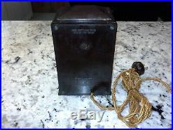 Rare and Stylish GE Telechron AB8B02 Art Deco Bakelite Clock Works Great! 1930's