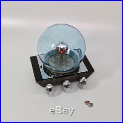 Rare vintage Art Deco Machine Age'Cercle Tournant' Sphere Fish Aquarium Clock