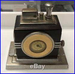 Ronson Touch Tip Lighter with clock. 1930s Art Deco. Working. Signed. Lot 502