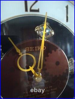 SEIKO QXM147BRH Melodies In Motion HIFI Elvis/Beatles Works Great