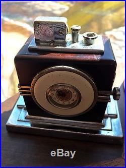 Sexy Ronson Art Deco Touch Tip Lighter Clock 1930s Bogarts Maltese