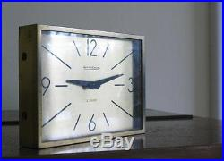 STUNNING Vintage MID-CENTURY ArT DeCO JAEGER-LECOULTRE Desk/Mantle CLOCK/Watch