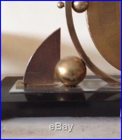 SUPERB ICONIC FRENCH VINTAGE ART DECO / MODERNIST 8 DAY MANTLE CLOCK c1930