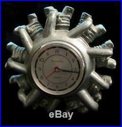 Sarsaparilla Designs Art Deco Revival Radial Engine Working Clock