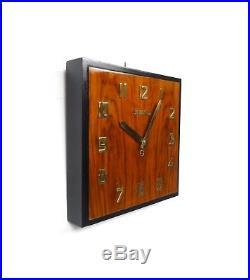 Seltene Original Vedette Art Deco Wanduhr Furniert Bauhaus Modernistic Clock