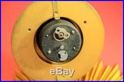 Smith English Art-deco 8 Day Gold Gilt Sunburst Wall Clock