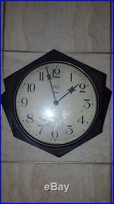 Smiths Bakelite York wall clock unusual art deco style 8 dial 1930's