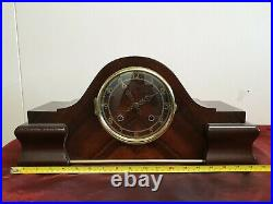 Smiths Empire Clock Quality English Maker 1930 Art Deco Napoleon Hat Clock