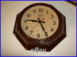 Smiths Sectric Electric Wall Clock 12 Bakelite Octagonal 30s 40s ART DECO