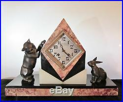 Stunning Art Deco Clock Mainson Roussy Arcades Du Capitole Toulouse Fritz Marti